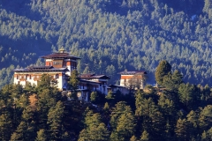 Bumthang Dzong monastery in the Kingdom of Bhutan.