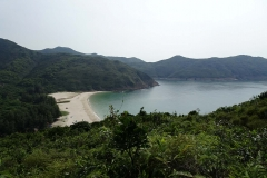 Plage sauvage dans le district de Sai Kung à Hong Kong
