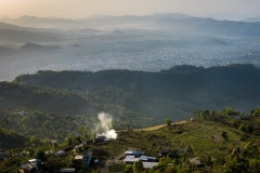 View of Pokhara, Nepal, from Sarangkot Viewpoint after sunet
