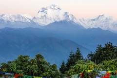 High mountains in the Himalaya, Pokhara, Nepal